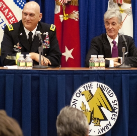 Ray Odierno and John McHugh (pictured left to right)