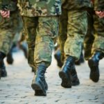reservists marching