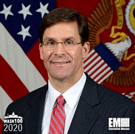 DoD Recommends Navy to Procure Extra-Large UUVs for Future Fleet; Mark Esper Quoted