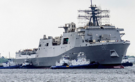 navys-new-san-antonio-class-ship-launched-into-water