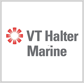 VT Halter Marine Launches Navy Berthing Barges; Bob Merchent, Kevin Amis Quoted
