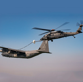 Air Force Begins Aerial Refueling Tests for Jolly Green II Helicopter