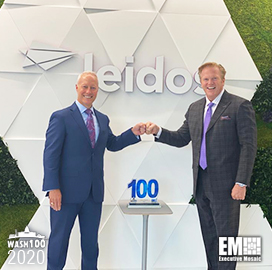 Gerry Fasano, President of Leidos Defense Group, Receives First Wash100 Award From Executive Mosaic CEO Jim Garrettson