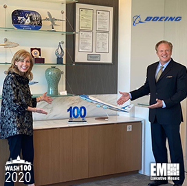 Leanne Caret, President & CEO of Boeing Defense, Space & Security, Receives Fourth Consecutive Wash100 Award
