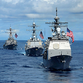 DoD Eyes Fleet Size of More Than 500 Ships for Navy; Lt. Tim Pietrack Quoted