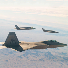 Air Force's Fifth-Gen Fighter Jets Share Data During gatewayONE Flight Test; Lt. Col. Eric Wright Quoted