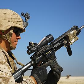 Marine Corps Fields Rifle Suppressors Under Large-Scale Defense Logistics Program; Maj. Mike Brisker Quoted