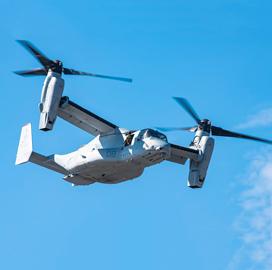 V-22 Tiltrotor Program Office Eyes Survivability, Medium-Lift Capability Updates; Col. Matthew Kelly Quoted