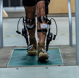 Army Experiments With Adaptive Exoskeleton Tech; Cortney Bradford Quoted