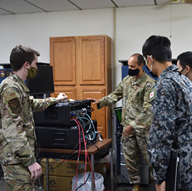 Japanese Forces Visit Air Control Squadron for Cyber Defense Input; Capt. Ali Syed Quoted
