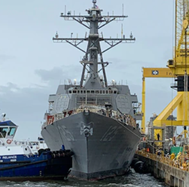 Navy, HII Launch First Flight III Arleigh Burke-Class Destroyer; Capt. Seth Miller Quoted