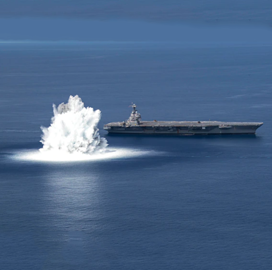 Navy Puts Ford Aircraft Carrier Through Live Explosive Test